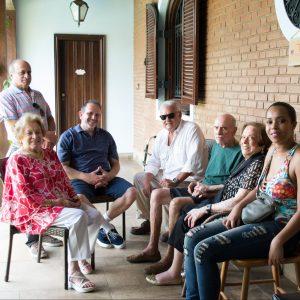 familia no residencial de idosos